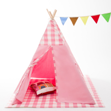 Pink children teepee tent kids play indoor