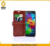 For Samsung s5 leather case, Quilted PU Leather Wallet Case Free Sample Cell Phone Case For Samsung Galaxy S5
