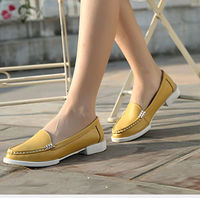 D20265Q 2014 SPRING NEW FASHION CANDY COLOR FLAT LEATHER SHOES FOR WOMEN