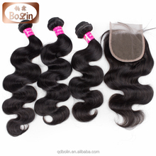 virgin malaysian hair China Hair Factory Natural Color Cheap Free/Middle/Three Part Peruvian Virgin Hair Bundles With Closure