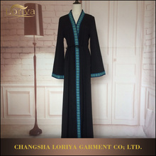 Latest Pakistani Style long dress wholesale pretty kimono/front open abaya