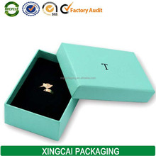 2017 Free Sample Custom Printed Wholesale Tiffany Blue Gift Jewelry Box