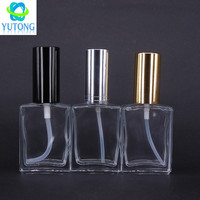 30ml square glass perfume bottle with spray mist cap for e liquid