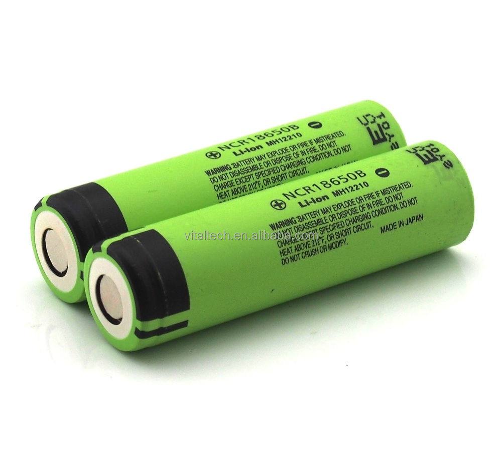 Original NCR18650B 3.7v 3400mah rechargeable batery no protected