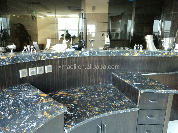 Best Sale Building Material cultured marble Black Potoro for countertops, Wall and Floor tile
