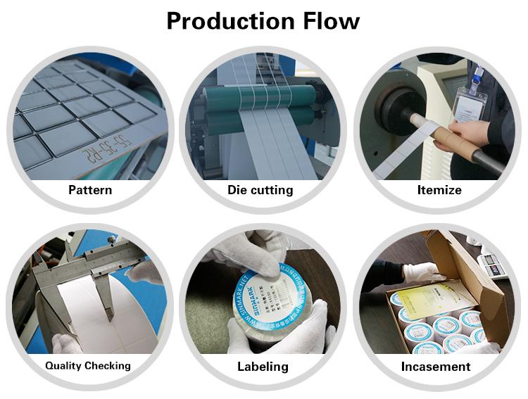Logística rótulo 100mm x 100mm 500 PCS/Roll Envio Gratuito de Etiquetas de código de Barras Térmica Direta Etiquetas Etiquetas para Impressora térmica