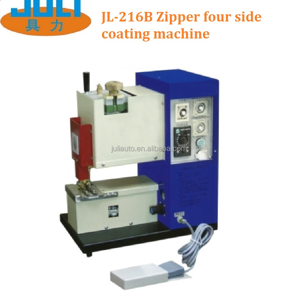 JL-216B zipper four side gluing machine that zipper four side gluing hot melt adhesive machine