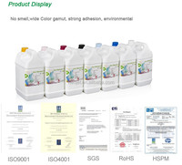 Hot sale outdoor advertising digital printing eco solvent ink for Epson DX5 DX7 buy direct from china factory