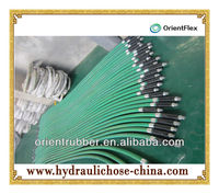 pressure test braided metal flexible hose line assembly assemblies