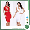 one shoulder bandage keyhole dress women design dress