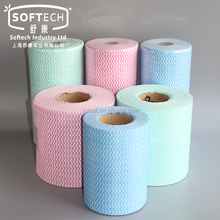 Factory Wholesale Disposable Soft Super Absorbent Rayon Spunlace Nonwoven Fabric Soft Household Multi Purpose Cleaning Wipe Roll