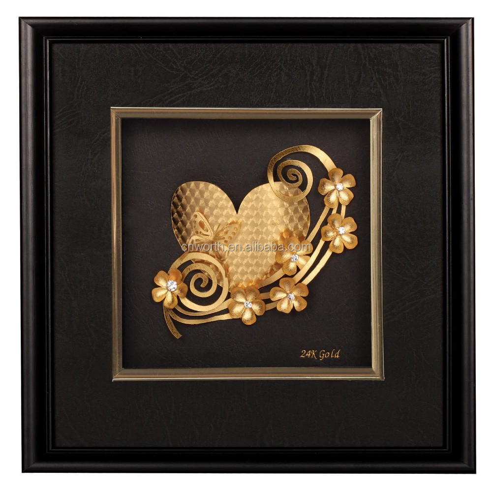 Arts And Crafts 24k Gold Picture Frames For Christmas Gift