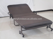 folding metal bed with mattress