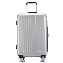 ABS PC Silver Cabin 20 Inch Trolley Travel Luggage