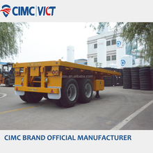 CIMC 2/3 axles container loading 20ft flatbed semi trailer