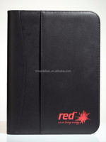A4 leather file folder document holder fashion portfolio folder leather portfolio folder from factory