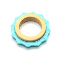 Cute Silicone and Wooden Teether Shapes Creative Toys for Kids
