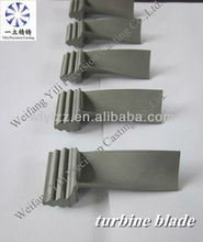 Investment vacuum casting superalloy turbine blade used for yamaha motor boat engine turbojet engine parts
