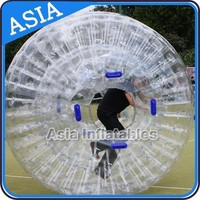 Hot Clear Inflatable Zorbing Pit Ball, Bubble Soccer Ball, Human hamster ball on grass