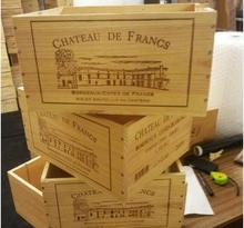 FRENCH WINE BOXES Used wooden crates - Storage solutions hampers shabby chic