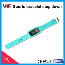 cheaper wristband pedometer_colorful bracelet pedometer for promotional gifts