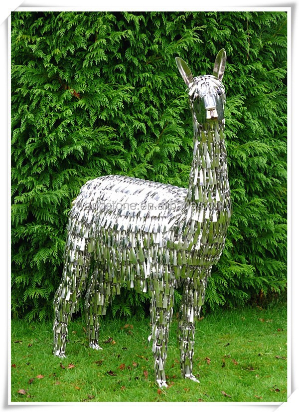 Unique new product christmas australia stainless steel alpaca sculpture