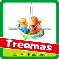 Hanging paper car air freshener/air conditioner freshener