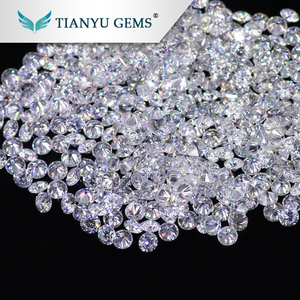 Wuzhou Gem Processing China White 1-2mm Factory Wholesale Certified Moissanite