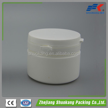 Wholesale 200 cc HDPE Plastic Pharmaceutical Pill White Color Bottle With Plastic Tearing Off Cap