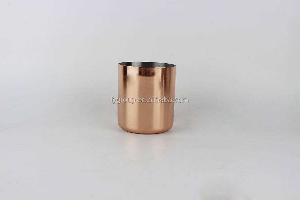 Private label Customized essential oil soy wax candle jars / OEM candle container /Metal candle holder