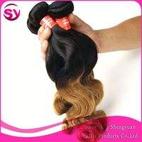 "Cheap Goods From China Virgin Brazilian Ombre Weave Hair 3Pcs 16"" Body Wave Bundles Ombre Hair Weaves"