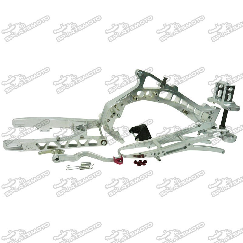 CRF50 Pit Dirt Bike Full CNC Aluminum Frame Triple Clamp Rear Swingarm Set