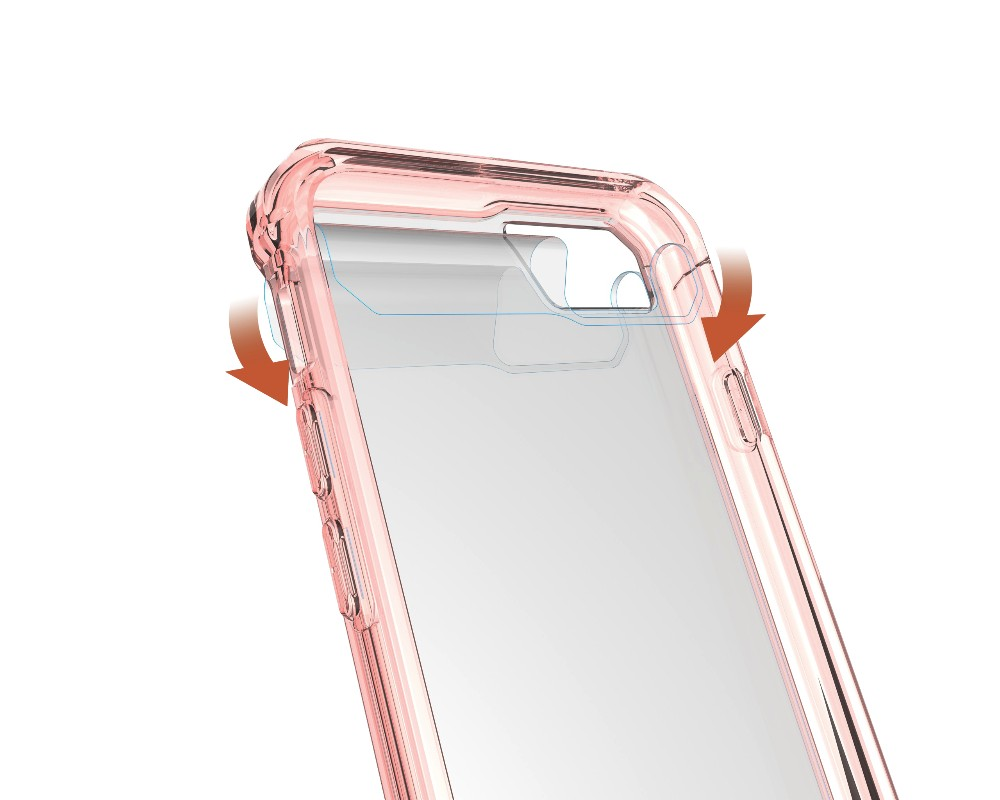 New Product Slim Transparent Armor Case For Iphone 7, For Iphone 7 Plus Case