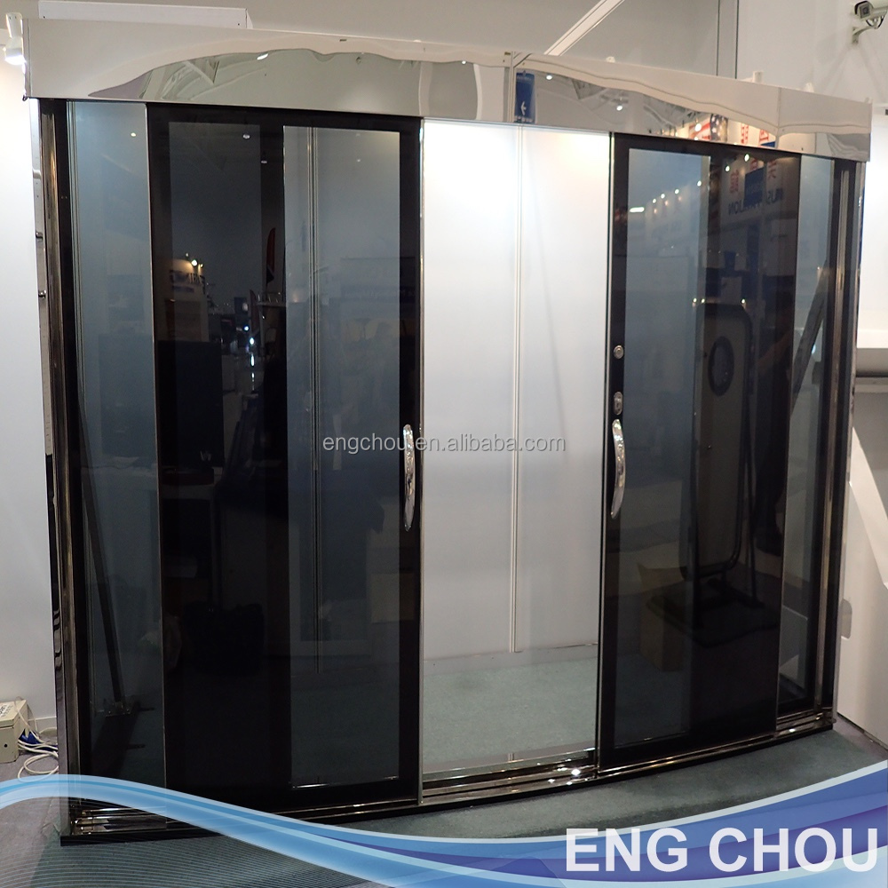 SUS316 automatic glass sliding door for yacht