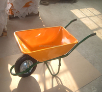 Pneumatic Wheel Wheel Type and Metal Tray Material angola spain deep tray narrow wheelbarrow wb6401