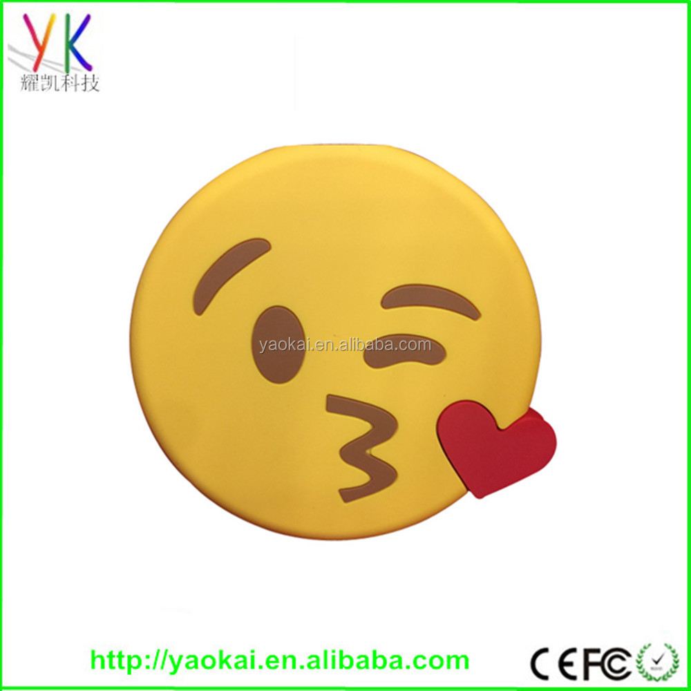 2017 Fashion Cartoon cute emotion emoji funny lovely power bank 2000mah