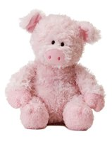 soft toy pink pig, pig stuffed animal