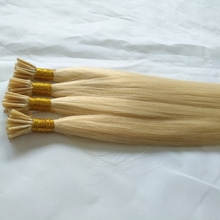 Light blonde color 613 prebonded human hair silky straight wave 0.5g 0.8g 1g per strand chinese remy hair