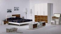 2011 Milan trend contemporary modern white bedroom furniture set