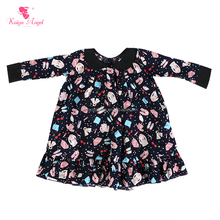 children frocks designs long Sleeve floral dress in Fashion New cotton baby Girls dress