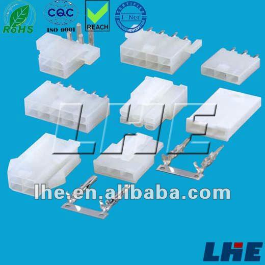 4.20mm pitch dual row 4 pin white wire connector