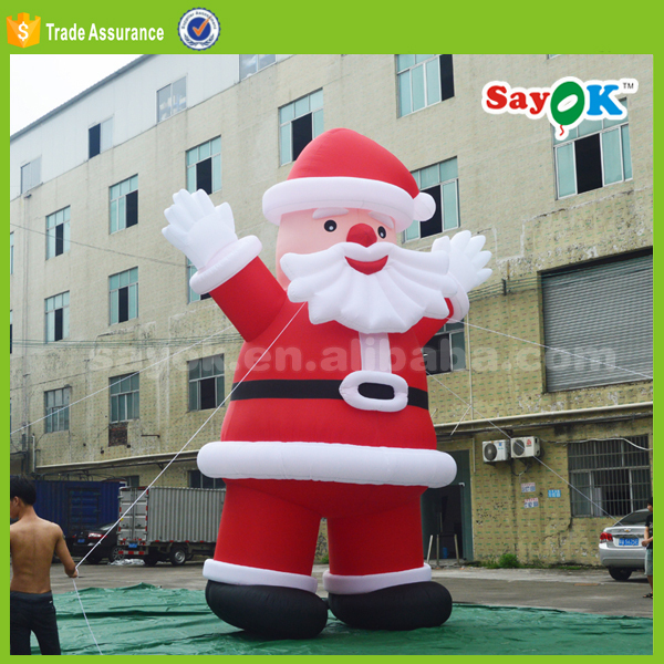 giant christmas party decorating inflatable santa claus with led light for sale