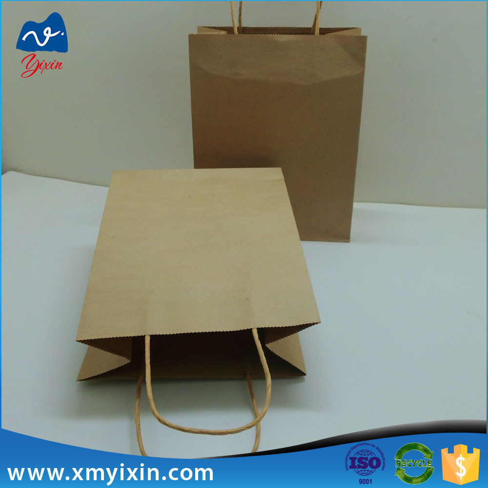 Manufacturer wholesale grocery kraft brown paper bags