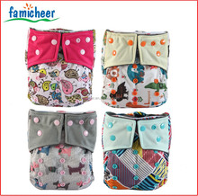 Famicheer Colored Snaps Bamboo Charcoal One Size Cloth Nappies