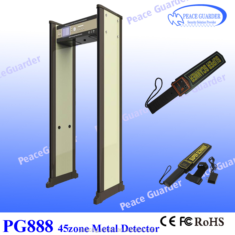 45zone metal detector walk through gate for airport security check PG888