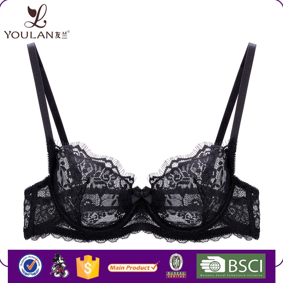 Hot Selling Women Underwear Sexy Ladies Transparent Lace Girls Lingerie Bra