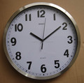 simple round metal large wall clock(HA-816)