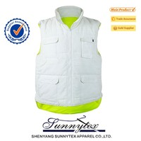 Reflective Blue Mesh Yellow Safety Vest With Pockets