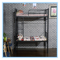 Latest collapsible steel pipe bunk bed school metal bunk