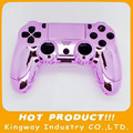 Replacment Chrome Controller Shell For PS4 wireless Joypad Housing Case Pink